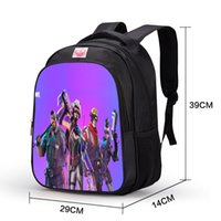 Wholesale travelling notebook - 29*14*39cm New Game Fortnite Character 3D Print Boy Girl Schoolbag Men Travel Backpack Cartoon Notebook Backpack Teenage Big Size Rucksack