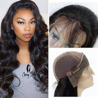 Wholesale human front hair weave online - Pre Plucked Body Wave Lace Front Wigs with Baby Hair Unprocessed Brazilian Peruvian Malaysian Virgin Human Hair Weave Wigs Natural Hairline