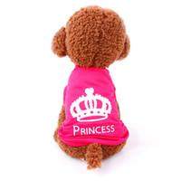 pet jackets princess NZ - Pet Dog Clothes Puppy Vest Spring summer T-shirt Pet Shirt Cute dog vest princess pajamas pet Cat Clothes costume for small dog