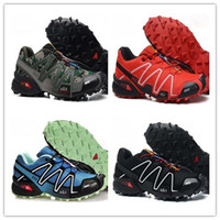 Wholesale cotton road shoes - 2018 Speedcross 3 shoes Men Summer sports Hiking waterproof Outdoors off-road running shoes Speedcross III 1s Sneakers