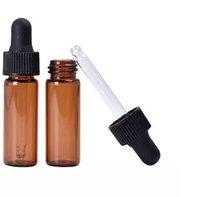 yeni kehribar şişeleri toptan satış-Yeni Arriveal 4 ml Kırmızı-Amber Cam Damlalıklı Şişe En Kaliteli Esansiyel Yağı Şişesi Ekran Şişeler Küçük Serum Parfüm Örnek ...