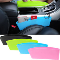 Wholesale plastic key holder case online - 11 cm Auto Car Seat Console Organizer Side Gap Filler Organizer Storage Box Bins Bag Pocket Holder Console Slit Case For Phone Key HH7
