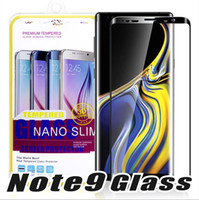 Wholesale 3d tempered glass online - For S8 S9 Plus S8plus Note Full Cover Curved Glass S6 S7 Edge D Curved Screen Protector tempered glass With Retailbox