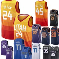 Wholesale m jazz - New 24 Grayson Allen Utah Jazz Jersey Men 77 Luka Doncic 22 DeAndre Ayton 35 Marvin Bagley III Basketball Jerseys stitched Embroidery Logos