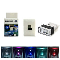 Wholesale foot lamp car resale online - Car atmosphere lights led free modification cigarette lighter Decorative lights Atmosphere light Car foot lamp Car styling with retail box