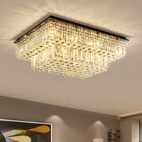 Wholesale Unique Pendant Lights Kitchen - Dimmable modern led chandeliers patented unique special high-end K9 crystal led ceiling chandelier lights ceiling pendant lamp Lightzone