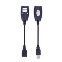 femme mâle lan extender achat en gros de-USB 2.0 MALE a FEMALE Cat6 Cat5 Cat5e 6 Rj45 LAN Ethernet Cordon de réseau Extender Extension Répéteur Adaptateur Câble jusqu'à 150 pieds