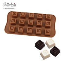Wholesale silicone molds for cakes resale online - FILBAKE DIY Silicone Bakeware Stable Square Fondant Ice Chocolate Mold Of Cake Molds For tools