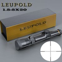 Wholesale rifle scopes optics - LEUPOLD 1.5-5X20 Optics Riflescope Hunting Scope Mil-dot Illuminated Tactical Scope Riflescopes For Airsoft Air Rifles