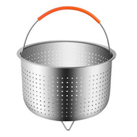 Wholesale ironing steamer resale online - Stainless Steel Rice Cooker Steamed Basket Pressure Cookers Ironing Steamer Multi Function Fruit Cleaning Baskets cy ff