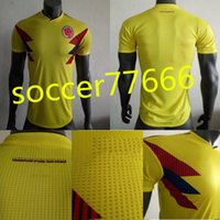 d2ea2a649 S-3XL PLAYER VERSION Colombia Soccer Jerseys 2018 World Cup Jersey  10  JAMES  9 FALCAO  11 CUADRADO  8 AGUILAR Thailand colombia home jersey