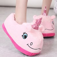 Wholesale champion slippers for sale - Group buy Champion Cartoon Cotton Slipper Shoes Dragging Home Unicorn Cotton Dragging Plush Shoes Plush Shoes