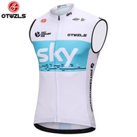 Wholesale Team Sky Pro Cycling Jersey - Sky 2018 Cycling Vest Jersey Men Pro Team Cycling Shirts Summer Sleeveless Mountain Bike Jersey Bicycle Clothing Maillot Ciclismo Hombre