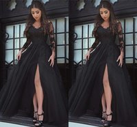 Wholesale real image dubai dresses for sale - Group buy Real Image Prom Dresses Formal Evening Party Pageant Gowns African Sheer Neck Long Sleeve Yousef Aljasmi Dubai Arbic Cheap
