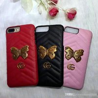 Wholesale black butterfly phone case for sale – best For iPhone xs max brand design metal logo English alphabet Butterfly phone case cover for iphone X plus plus plus hard back cover