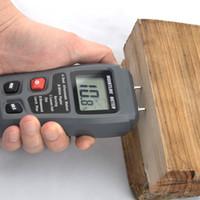 Wholesale digital conductivity tester resale online - LCD Pins Wood Industry Digital Moisture Meter Humidity Tester Timber Damp Detector Conductivity Moisture Hygrometer