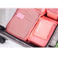 organizador de ropa al por mayor-Juego de bolsas de almacenamiento de viaje almacenadas de la marca Safebet de Navidad 6 piezas para el armario del hogar Divisor Cajón Organizador Ropa de viaje Clasificar bolsas