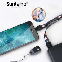 шнур для натяжных шнуров оптовых-Suntaiho Lanyard fast charging Type C Cable for Xiaomi mi8 Galaxy S9 micro USB cable for Huawei lightning charging