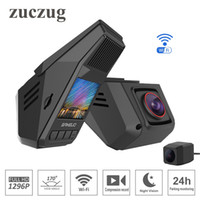 беспроводные парковочные камеры для автомобилей оптовых-Скрытый тип автомобильный видеорегистратор wifi super HD 1296P Starlight ночного видения универсальный Dash Cam Recorder беспроводные двойные камеры G-сенсор мониторинг парковки