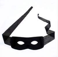 mascaras de zorro negro al por mayor-Hot Halloween Supplies Party Mask Red Black Hombres Adultos Mujeres Villano Broma Bandit Zorro Eye Mask Theme Party Disfraz de Máscaras