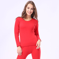 ingrosso biancheria intima più calda del corpo-Casual Lovers Pigiama Set Oversize 3XL Coppia Inverno Nuovo Keep Warm Thick Thermal Underwear Body-shaping Long Johns Intimo Suit
