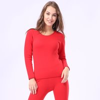 körperwärmer unterwäsche großhandel-Casual Lovers Pyjamas Set Oversize 3XL Paar Winter New Warm halten Dicke Thermo-Unterwäsche Body-Shaping Long Johns Intimanzug