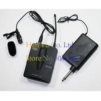 ingrosso sistema mic del cardino-lwm-3122 Lavalier Wireless Microphone System uscita 6.5 plug Cordless Lapel Mic per strumenti musicali per l'insegnamento del parlato