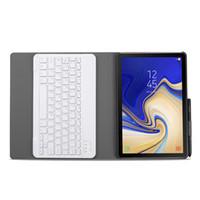 galaksi tabları deri çanta toptan satış-Samsung Galaxy Tab 10,5 2018 T590 T595 T 597 SM-T590 Tablet + Stylus için Hafif Ayrılabilir Klavye Kapak PU Deri Kılıf