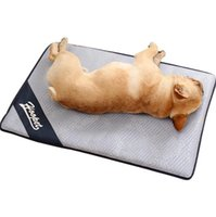 Wholesale large sized cushions - 4 Sizes Hoopet Pet Dog Summer Cooling Mat Floor Mats Rattan Sleeping Bed Cold Pad Ice Cushion Anti Damp Foam Mat CCA10071 10pcs