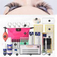 Wholesale individual false eyelashes kits resale online - 16 False Eyelash Extension Tools Set Makeup Tools Kits Professional Individual Eye Lashes Grafting Kit Set Bag