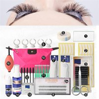 einzelne falsche wimpern-kits großhandel-16 Stücke Falsche Wimpernverlängerung Tools Set Makeup Tools Kits Professionelle Individuelle Wimpern Pfropfen Kit Set Tasche