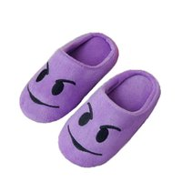 Wholesale cute emoji winter slippers for sale - Group buy Dropshipping Slippers Soft Velvet Indoor Floor Expression Sneakers Cute Emoji Home Shoe Soft Bottom Winter Warm Shoes Bedroom