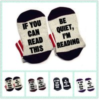 Wholesale Book Lovers - If You Can Read This Be Quiet, I'm Reading bookworm book lover Socks cotton comfortable unisex Men Women Socks