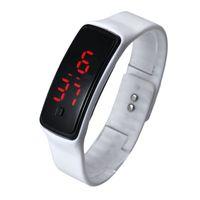 спортивные часы для девочек оптовых-sport watches Ultra Thin Men Girl Sports Silicone Digital LED Sports Bracelet Wrist Watch may27hy