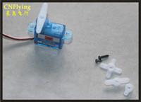 Wholesale model plane motors - free shipping sell 10PCS micro servo 3.7g servo for helicopter  hobby plane  model mini airplane f3p park flyer