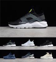 koşu ayakkabıları konforu toptan satış-2019 Üçlü Beyaz Siyah Huarache 4.0 1.0 Koşu Ayakkabıları Mens Konfor Koşu Ayakkabıları Erkek Kadın Atletik Ayakkabı Huaraches Trainer Spor Sneakers