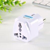 Wholesale usa europe converter - 1Pc USA US UK AU To EU Europe Travel Adapter Home Charger Power Adapter Universal Converter Wall Plug For Mobile Phone