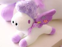 sockel dekorationen großhandel-Die neuen Pegasus Einhorn Puppen hängen Plüschtier Samt Tier Handy Podest Dekoration vor Ort Geschenk Freundin