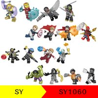 Wholesale Iron Children - SY1060 Avengers 3 Infinity War building blocks 2018 New children Thanos Iron Man Thor spiderman Hulk Movable Action Figure Minifig Toys B