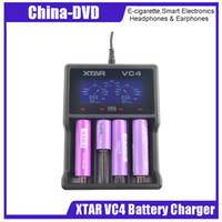 lcd ekran sistemi toptan satış-Otantik Xtar VC4 pil şarj cihazı 4 yuvalı LCD ekran ve Sıcaklık İzleme Sistemi şarj cihazı uygun Ni-MH ve Li-ion piller