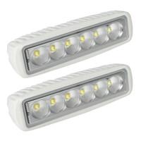 Wholesale led marine flood lights - LAGUTE 2 Pack White Spreader LED Deck Light Marine Lights for Boat Flood Light 12V 18W