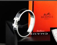 h bracelet rose achat en gros de-H Bracelets En Or Rose H Bracelet Pour Femmes Manchette Lettre H bracelets Bijoux Femme Pulseira Feminina Masculina 18mm bijoux de mode avec boîte