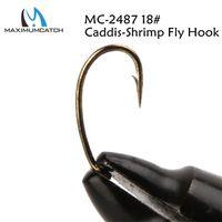 Wholesale fly tying fishing hooks for sale - Group buy MC Fly Tying Hook Caddis Shrimp Fly Fishing Hook Fly Hook