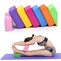 tijolos da ioga venda por atacado-Blocos de Yoga Pilates EVA Tijolo Espuma Pilates colorido Estiramento Aptidão Exercício Esporte Ginásio Ferramenta Para Exercício De Fitness FFA279 60 pcs