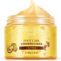 Wholesale cream spa - BIOAQUA Shea Butter Foot Care Massage Foot Spa Beauty Remove Dead Skin Foot Cream Frosted Scrub Feet Membrane 180g