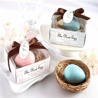 Wholesale wedding scented favors - Bird Egg Modelling Small Boxed Soap Handmade Home Baby Birth Shower Bath Soap Unique Souvenirs Scented Wedding Gift Party Favors