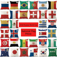 Wholesale travel teams resale online - 2018 Russia World Cup Argentina National Flag Pads football team Outdoors Sport Bolster National Flag Pillow hl bb