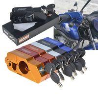 ktm lenker großhandel-CNC Aluminium Handle Grip Sicherheit Sicherheitsschlösser Lenker Handset Bremshebel Lock Fit Roller ATV Motorräder Dirt Street Bikes KTM