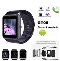 Wholesale watch mobile phone free shipping - Smart Watch GT08 for Andriod Mobile Phone Bluetooth Watch with SIM Card Watch for IOS Wearable Device Phone Free Shipping