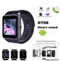 ingrosso sim sim mobile-Smart Watch GT08 per Andriod Mobile Phone Orologio Bluetooth con SIM Card Watch per IOS Wearable Device Phone Spedizione gratuita